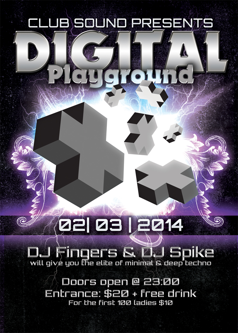 Digital Playground Event Poster